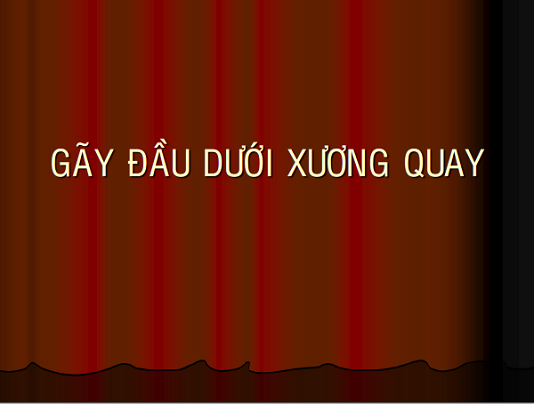 gay dau duoi